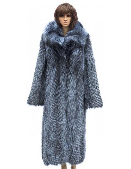 Winter Fur Full Length Crystal Fox Color Jacket