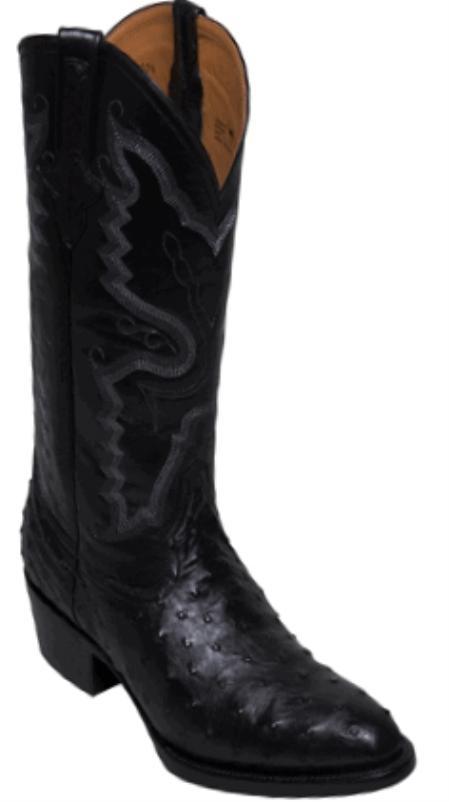 SKU#FQ3869 Full Quill Ostrich Black - R Toe $319