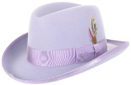 SKU#MAS87 GODFATHER NEW MENS Lavender 100% WOOL DRESS HAT 49