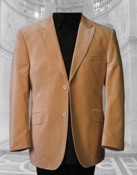 SKU# IOP755 JV-100 GORGEOUS PEACH SPORT COAT ; 2 BUTTON ; SINGLE BREASTED; PEAK COLAR; WITH 2 FLAP POCKETS; $495