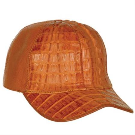 589e2a400 Exotic Gator skin Cognac Baseball mens Western hat ~ Genuine Ostrich World  Best Alligator