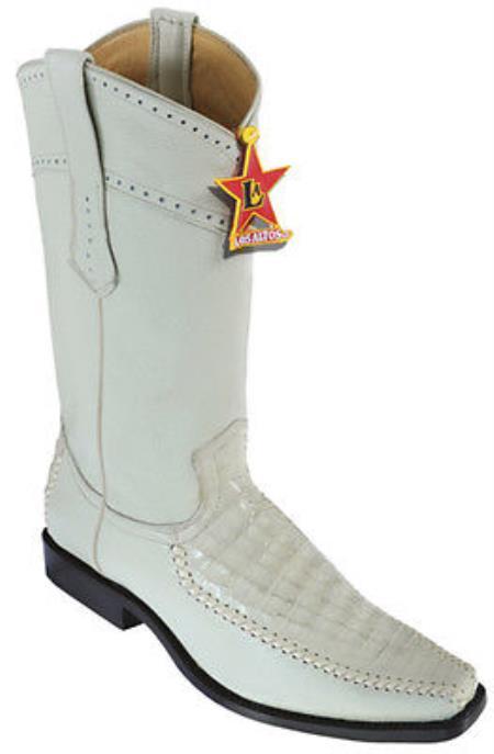 e0b6071672e caiman ~ World Best Alligator ~ Gator Skin Belly Vintage Cream ~ Ivory ~  Off White Los Altos Men's Cowboy Boots Western Rider