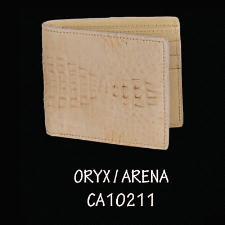 Mens Genuine Exotic Animal Skin caiman ~ World Best Alligator ~ Gator Skin Hornback Leather Wallet by Exotic Skinned Oryx