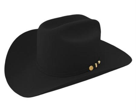 SKU#BLA8889 Genuine Beaver Fur 100X Felt Hat Black