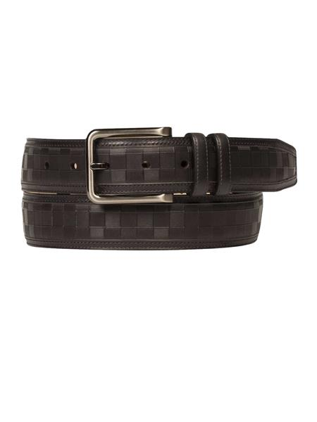 Mezlan Brand Mens Genuine Calfskin Black Skin Belt