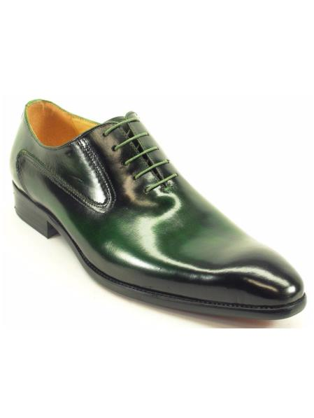 Buy SM4261 Carrucci Men's Lace Style Emerald Genuine Leather Oxford Shoes