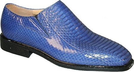 SKU# Genuine Snake 15521 Plain toe slip on side gore with snake skin. Man-made sole $750