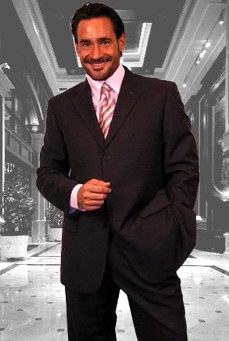 SKU#JR634 Gianni Charcoal 3 Button Super 120s Wool Suit