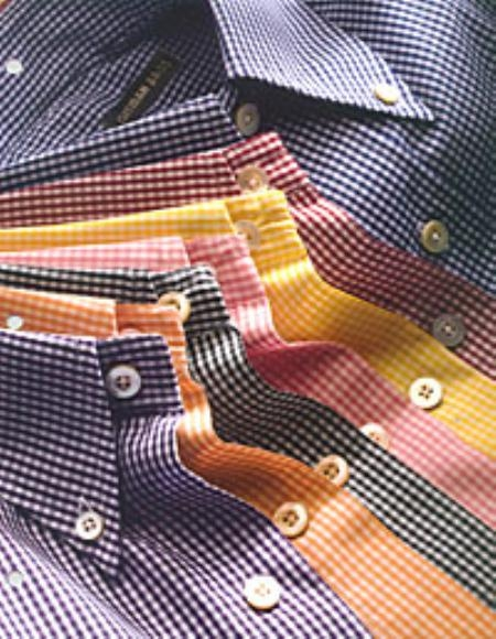 Gitman Gingham Check Button Down Dress Shirts in Many Colors $100