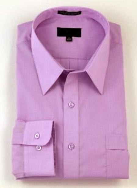 SKU#118FRA61 Gitman Gold Lavender Spread Collar 100s Pin-Point Dress Shirt $100