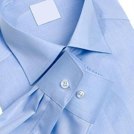 SKU#118FRA03 Gitman Gold Light Blue Spread Collar 100s Pin-Point Dress Shirts $100