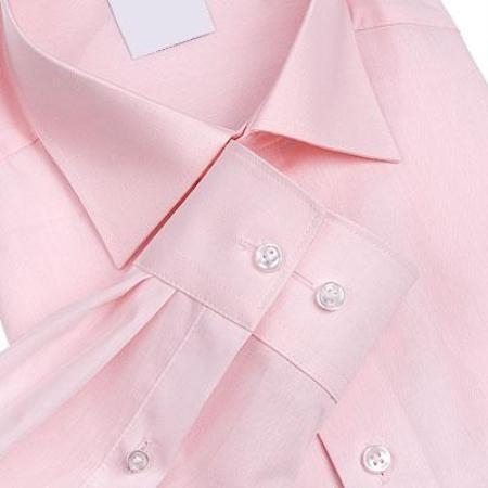 SKU#011WFSC62 Gitman Salmon Spread Collar Non-Iron Dress Shirt $55