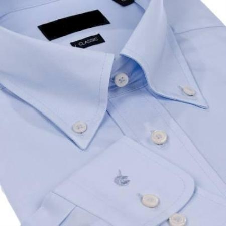 SKU#011WFBD40 Gitman Solid Blue Button Down Non-Iron Dress Shirt $75