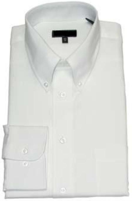 SKU#011WFBD10 Gitman Solid White Botton Down Non-Iron Dress Shirt $75