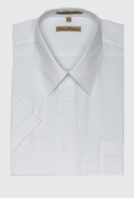 SKU#110M10 Gitman Solid White Point Collar Pin-Point Dress Shirt $75