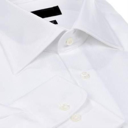 SKU#011WFSC10 Gitman Solid White Spread Collar Non-Iron Dress Shirt $75