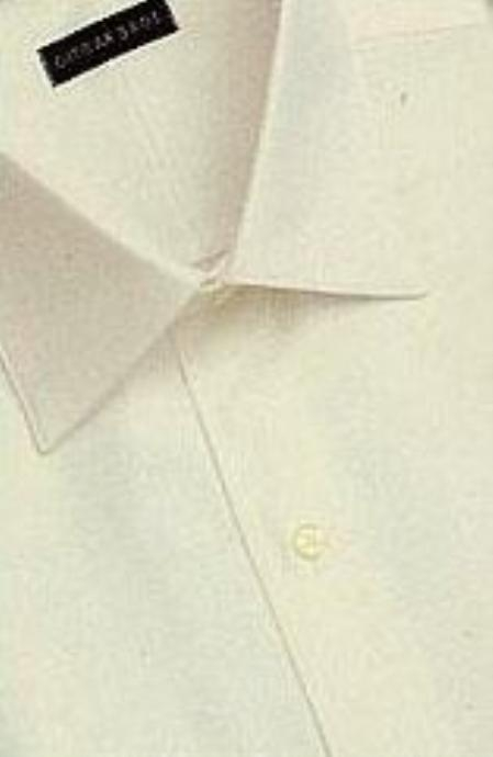 SKU#110CH10 Gitman Solid White Spread Collar Pin-Point Dress Shirt $75