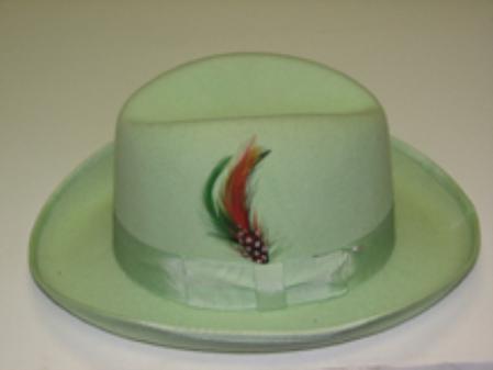 SKU#AY717 GodFather Mint 100% Wool Homburg Dress Hat 4201