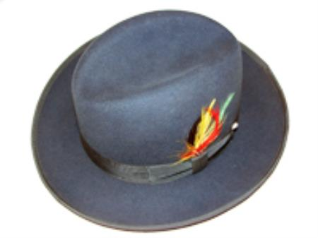 Teal 100% Wool Homburg