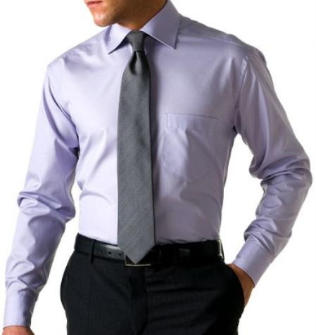 Gitman Gold 100% 2-Ply cotton in Lavender, with spread collar and barrel cuffs $99