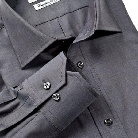 Gitman Gold 100% 2-Ply cotton in brushed black, with spread collar and barrel cuffs $99