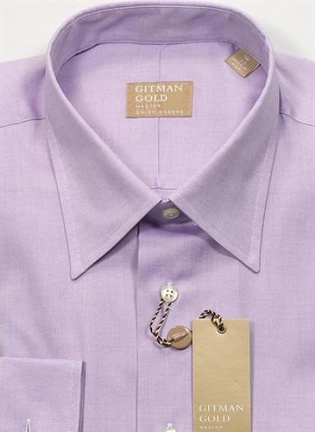 Gitman Gold Solid Pinpoint 100s 2-Ply Lavender On Sale: $105
