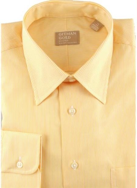 Gitman Gold Tech Twill Stripes Gold On Sale: $115