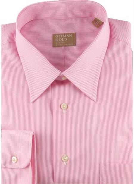 Gitman Gold Tech Twill Stripes Pink On Sale: $115