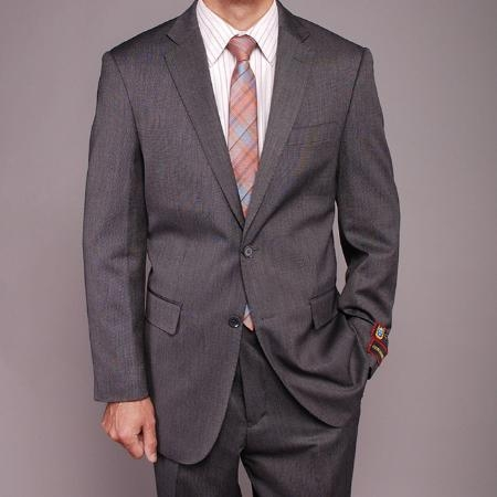 Mens Gray Teakweave 2-button Suit