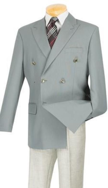 Mens Double Breasted Suits Jacket Blazer With Best Cut & Fabric Sport Jacket Coat Gray Grey