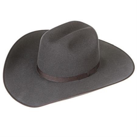 Tejana Granite Felt Cowboy Hats Grey ~ Gray