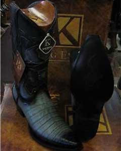 King Exotic Gray Snip Toe Genuine Crocodile Western Cowboy Boot