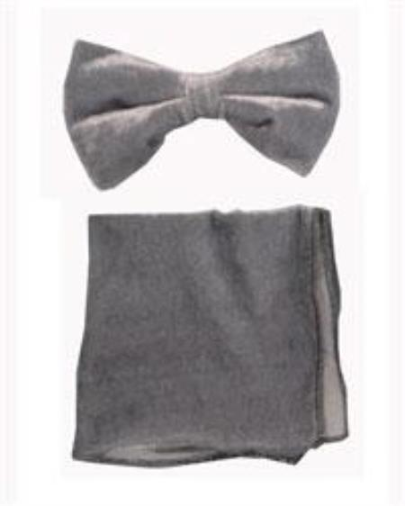 Bowtie with Hanky Gray