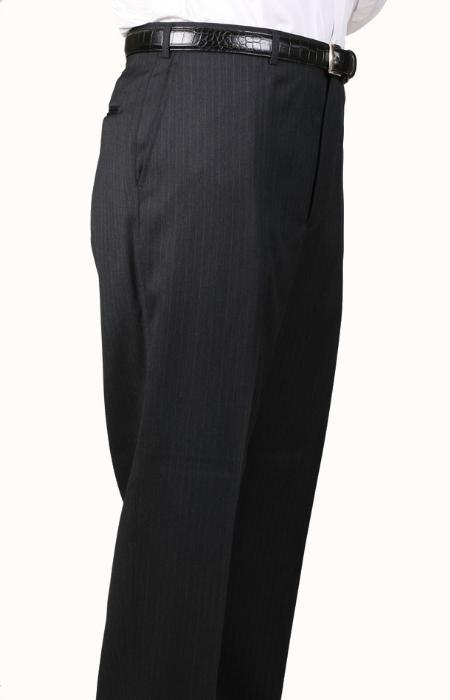 SKU#RX6390 Gray Bond Flat Front Trouser $69
