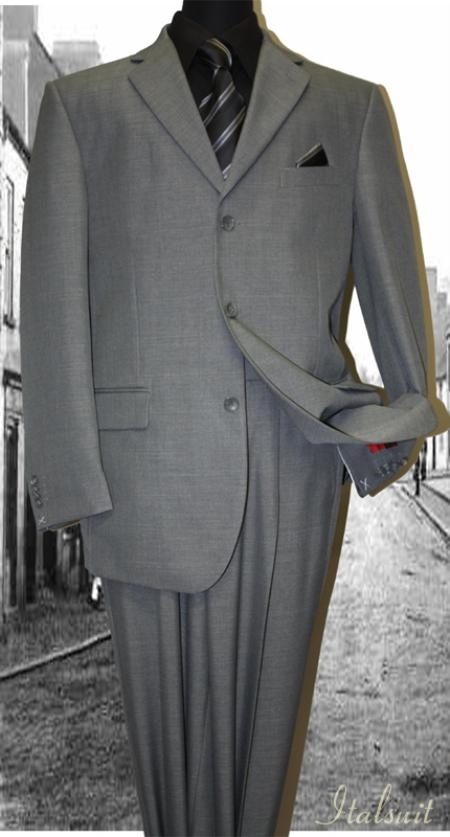 SKU#GL7755 Gray Classic 2PC 3 Button Mens Suit $119