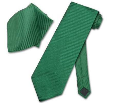 Emerald Green NeckTie & Handkerchief Matching Neck Tie