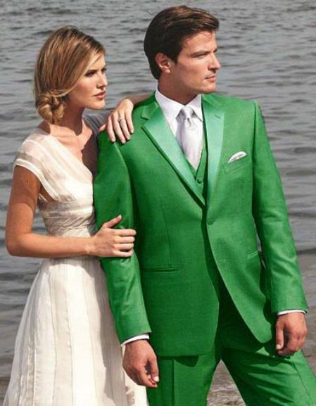 SKU#G5RE Stunning Green Two Button Tuxedo 7 days delivery