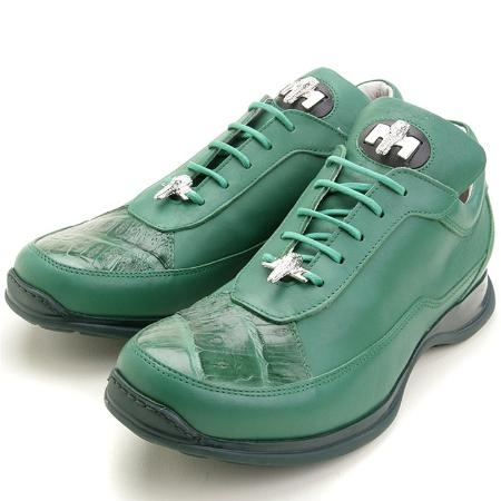SKU#NL2890 Green, Genuine Crocodile/Calfskin $229