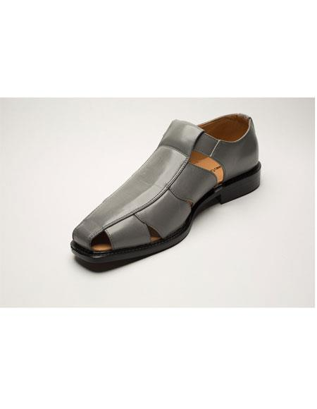 Mens Two Toned Grey Casual Sandal Shoes