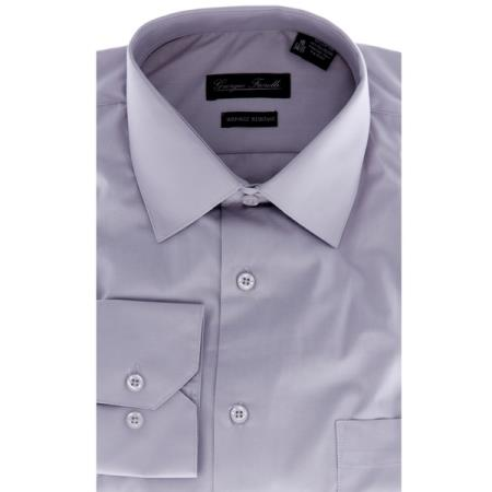 Modern-fit Grey Men's Dress Shirt