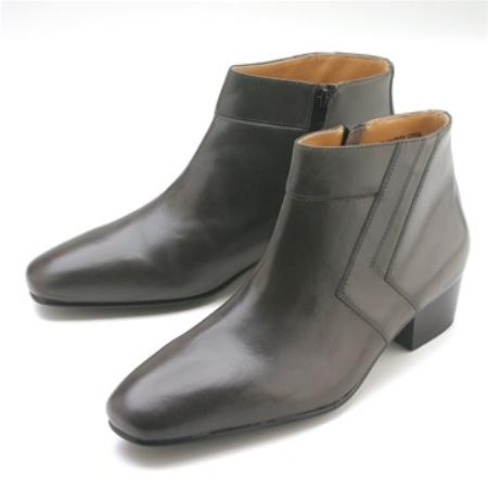 SKU#HP440 Grey Calfskin Demi Boot $750