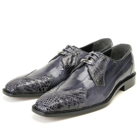 SKU#SA456 Grey, Genuine Eel/Crocodile by Belvedere $279