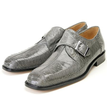 SKU#MA608 Grey, Genuine Ostrich Leg by Belvedere