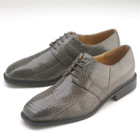 SKU#GL711 Grey Snakeskin Lace-Up $750