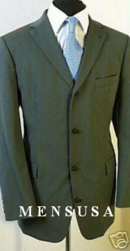 SKU# WE98 High Quality 4 Buttons Midium Nicest Olive Green Suits Light Weight On Sale $139