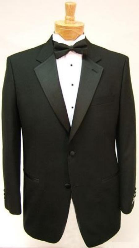 SKU# GB78 $775 Package Deal High Quality Umo 2-Button Super 120s Wool Tuxedo + Shirt + Bow Tie $189