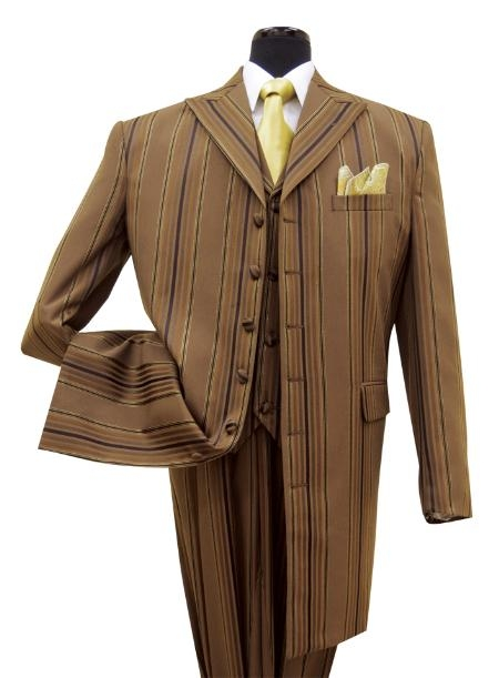 SKU#DS4841 High-End Fashion Men Suit Style Comes in Brown $125