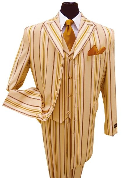SKU#IO4745 High-End Fashion Men Suit Style Comes in Peach $175