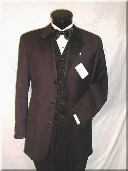 SKU# BMZ247 Highest Quality Guarantee On the Planent! 3 Button Tuxedo Suit Vested Super 150s Wool Ma