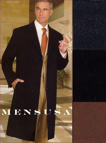 MensUSA.com Highest Quality Long Overcoat Single Breasted 3 Button Front Center Vent 485 Coat Lengh(Exchange only policy) at Sears.com